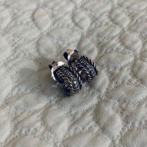 David Yurman Jewelry - David Yurman Cable Classics Diamond Earrings